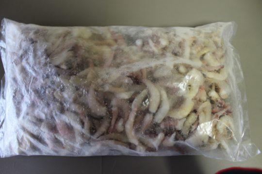ミャンマー産バラ冷凍 無頭天然小エビ 500g袋入れ アロワナ・エイ爆食 完全無添加2